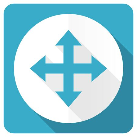 sterring: arrow blue flat icon