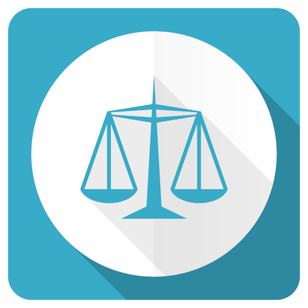 criminal act: justice blue flat icon law sign Stock Photo