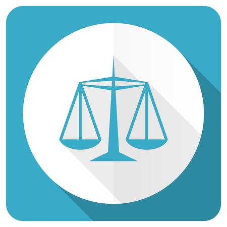 derecho penal: justicia icono azul plana signo ley