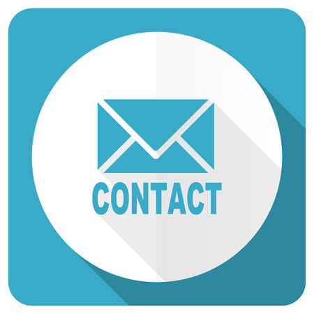 email contact: email blue flat icon contact sign