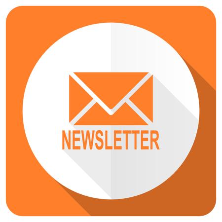 nieuwsbrief oranje platte pictogram Stockfoto