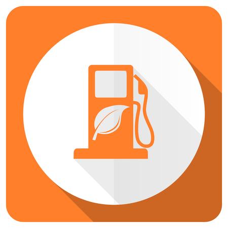 bio fuel: biofuel orange flat icon bio fuel sign