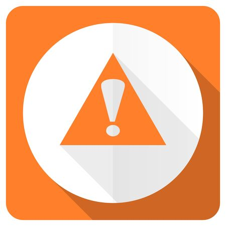 exclamation icon: exclamation sign orange flat icon warning sign alert symbol