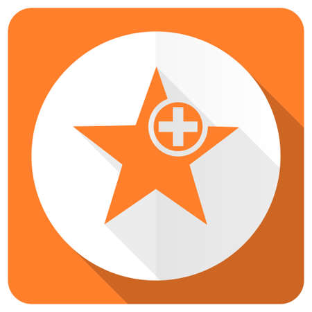 the favourite: star orange flat icon add favourite sign