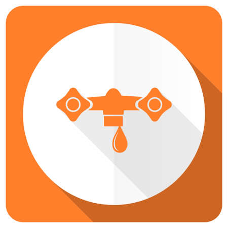 hydraulics: water orange flat icon hydraulics sign