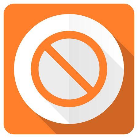 access denied: access denied orange flat icon