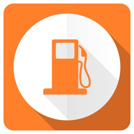 petrol orange flat icon gas station sign photo