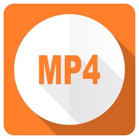 mp4: mp4 orange flat icon