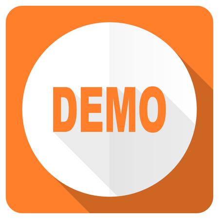 demo: demo orange flat icon