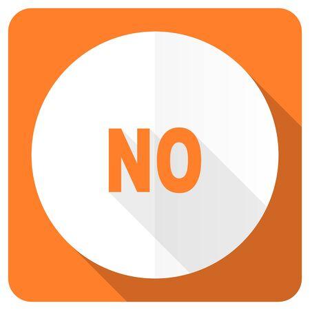 negate: no orange flat icon