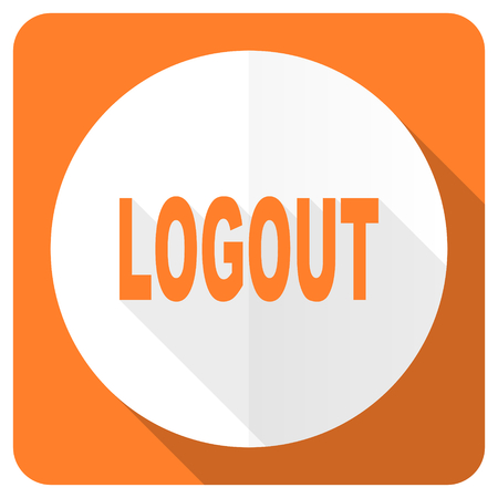 logout: logout orange flat icon