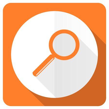 search orange flat icon photo