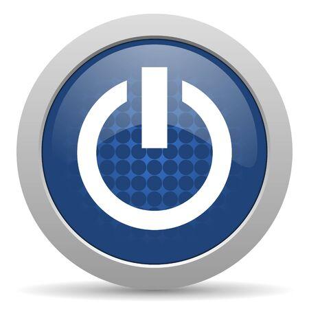 run off: power blue glossy web icon