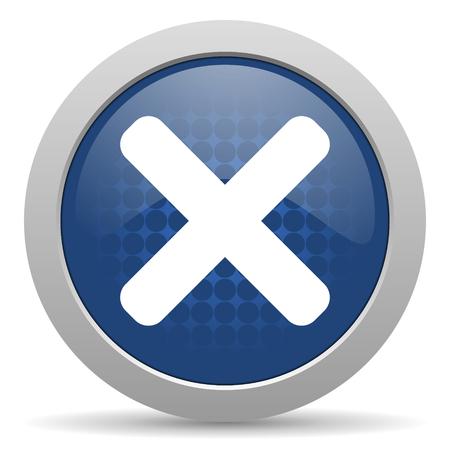 cancel blue glossy web icon photo