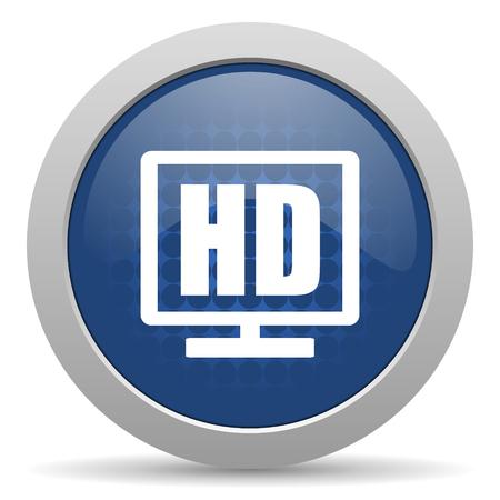 programm: hd display blue glossy web icon