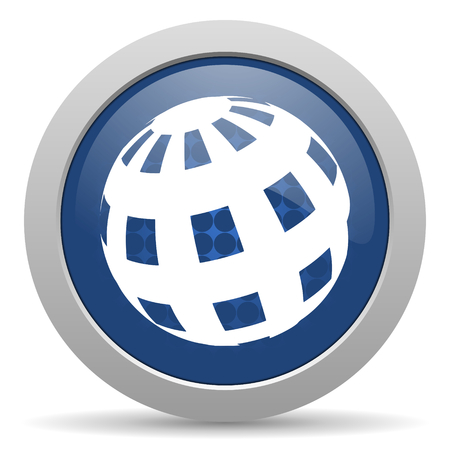 parallel world: earth blue glossy web icon