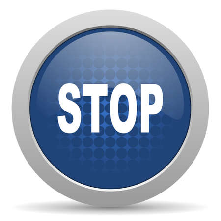 proscribed: stop blue glossy web icon