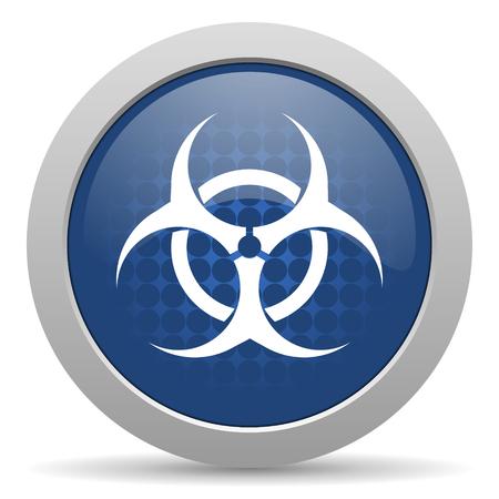 biohazard blue glossy web icon photo