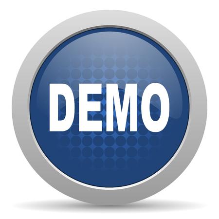 demo blue glossy web icon photo
