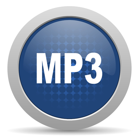 mp3: mp3 blue glossy web icon