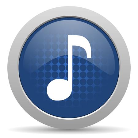 icono web: m�sica icono azul brillante Web