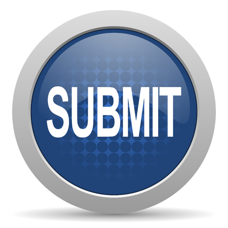 submit blue glossy web icon Stock Photo
