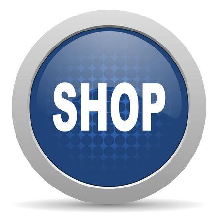 icono web: compras icono azul brillante Web