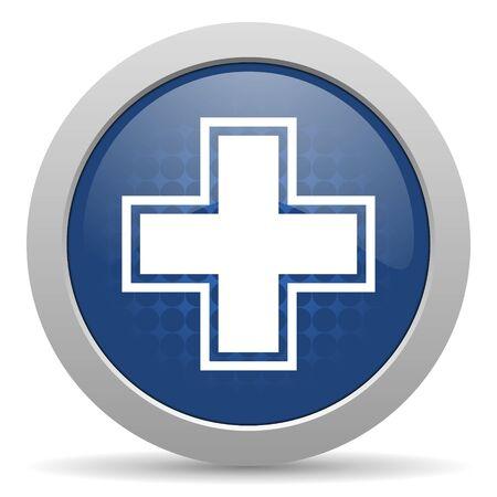 pharmacy blue glossy web icon photo