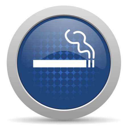 cigarette blue glossy web icon photo