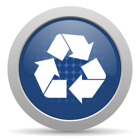 recycle blue glossy web icon photo