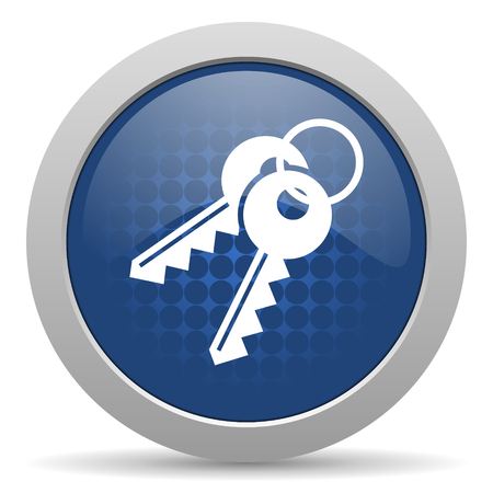 keys blue glossy web icon photo
