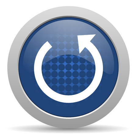 rotate icon: rotate blue glossy web icon