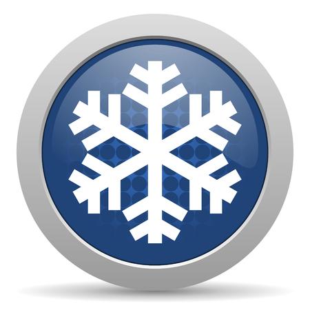 snow blue glossy web icon photo