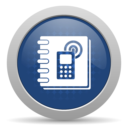 phonebook: phonebook blue glossy web icon