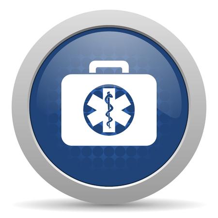 rescue kit blue glossy web icon photo