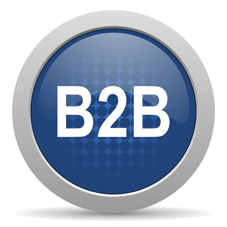b2b: b2b icono azul brillante Web