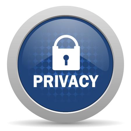 icono web: privacidad icono azul brillante Web