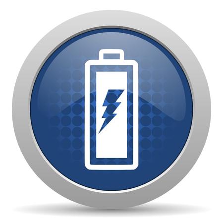 battery blue glossy web icon photo