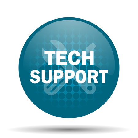 technical support: technical support blue glossy web icon