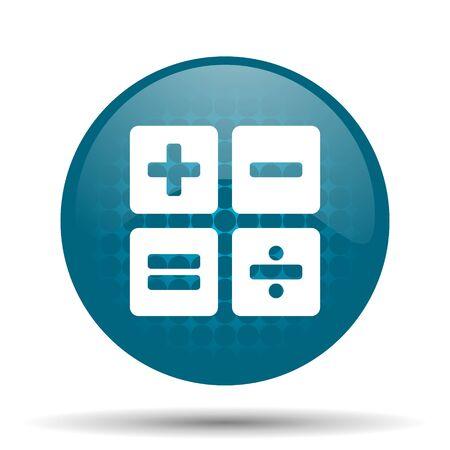 calculator blue glossy web icon photo