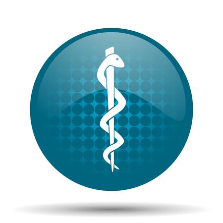 emergency blue glossy web icon photo