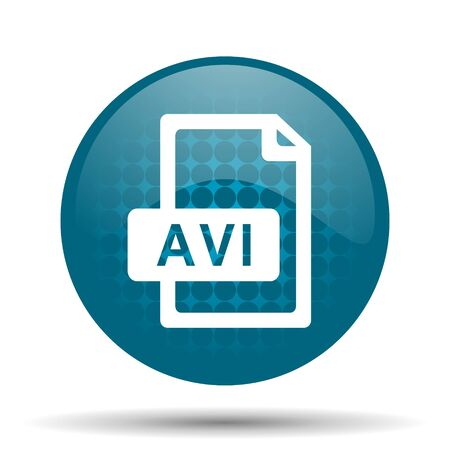 avi: avi file blue glossy web icon