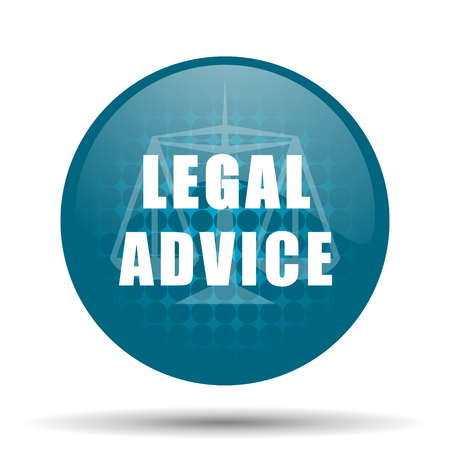 legal advice blue glossy web icon photo