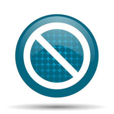 denied: access denied blue glossy web icon
