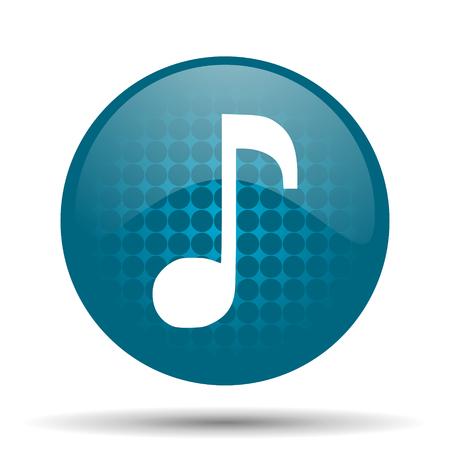 music blue glossy web icon photo