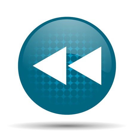 rewind: rewind blue glossy web icon