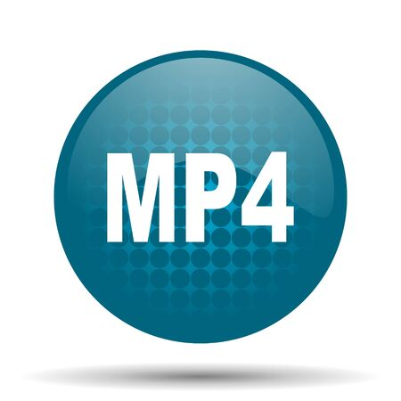 mp4: mp4 blue glossy web icon