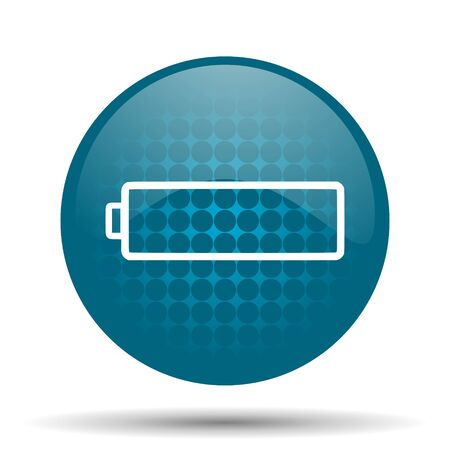 accuse: battery blue glossy web icon