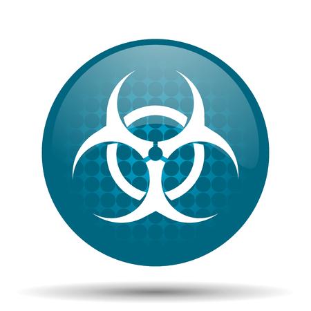 riesgo biologico: riesgo biológico icono azul brillante Web Foto de archivo