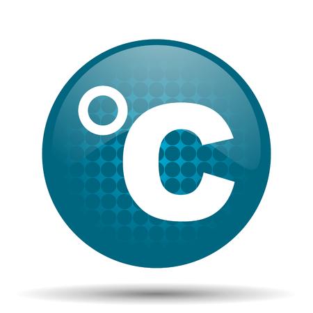 celsius: celsius blue glossy web icon